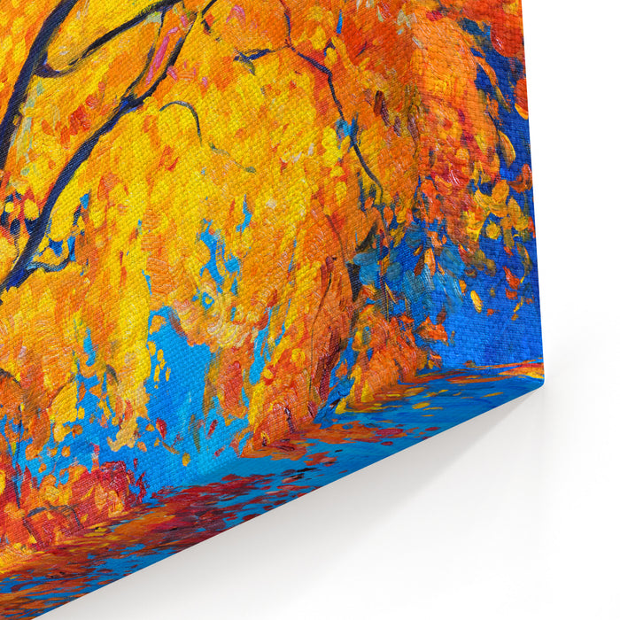 Oil Painting On Canvasautumn Treemodern Impressionism Canvas Wall Art Print