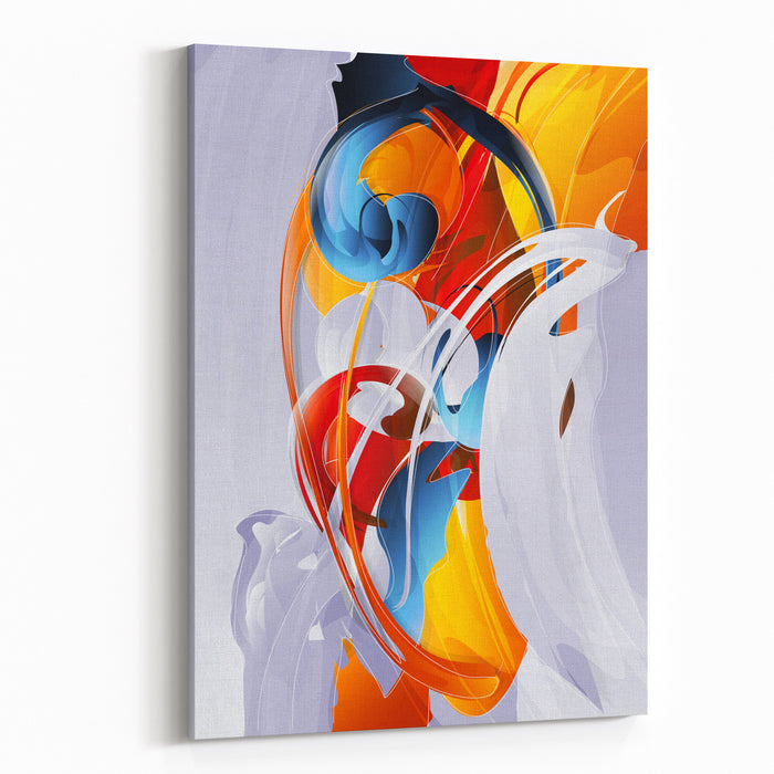 Abstract Vector Graphic Bright Background In Graffiti Canvas Wall Art Print