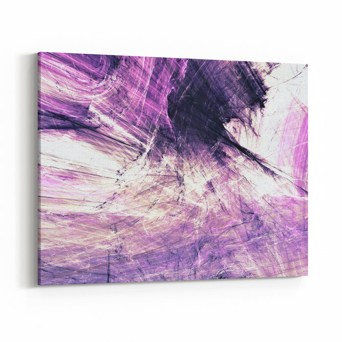 Abstract Purple Color Painting Texture Bright Artistic Background Modern Multicolor Dynamic Pattern Fractal Artwork For Creative Graphic Design Canvas Wall Art Print