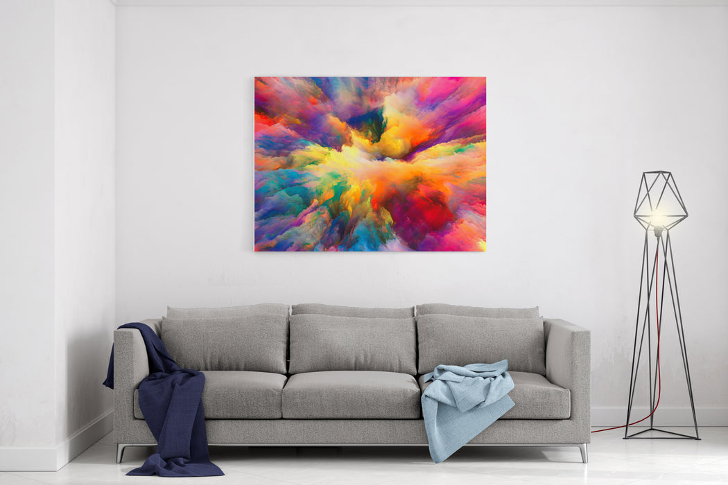 Color Explosion Series Abstract Design Made Of Fractal Paint And Rich Texture On The Subject Of Imagination, Creativity And Art Canvas Wall Art Print