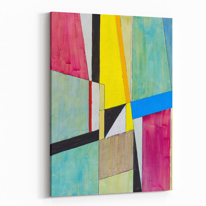 A Painting Modernist Geometric Abstraction Canvas Wall Art Print