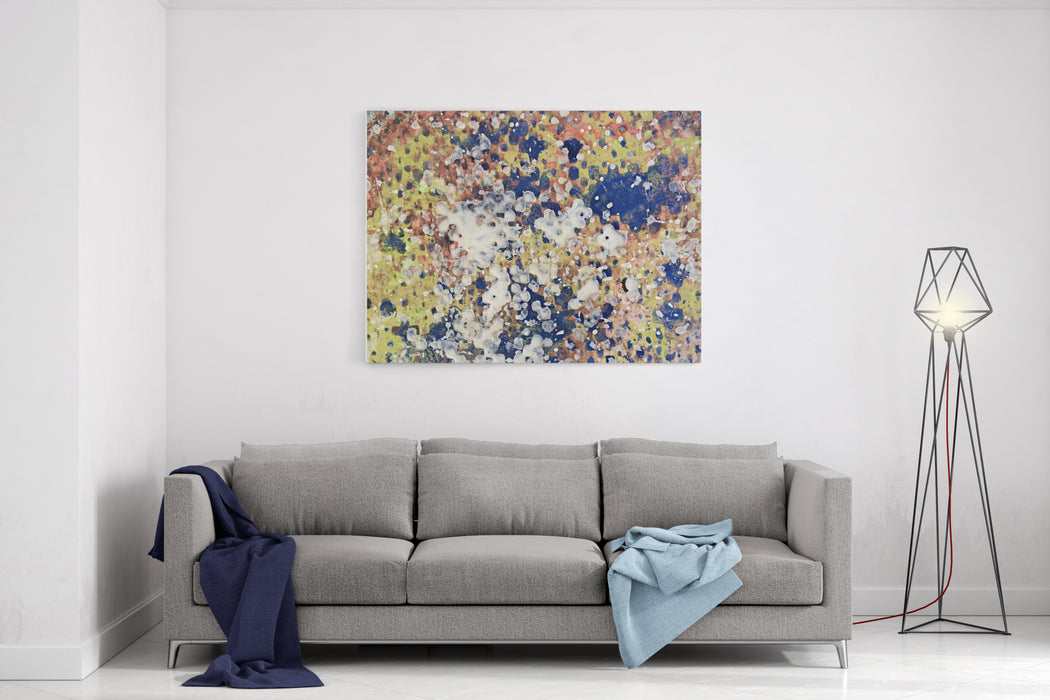 Art Abstract Painting Texture Pattern Backdrop Background Canvas Wall Art Print