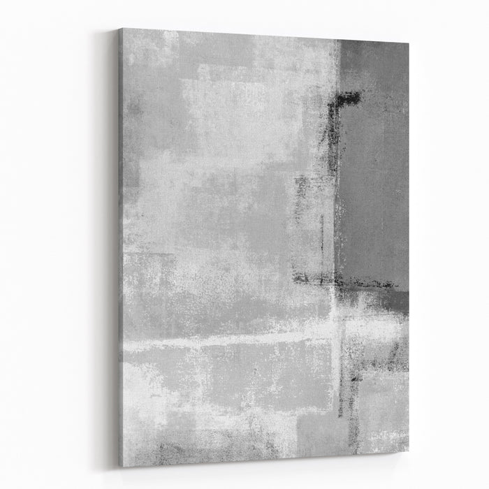 Grey Abstract Art Painting Canvas Wall Art Print