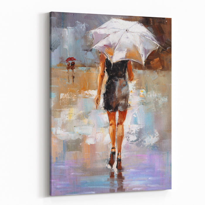Oil Painting  Fashion Lady Canvas Wall Art Print