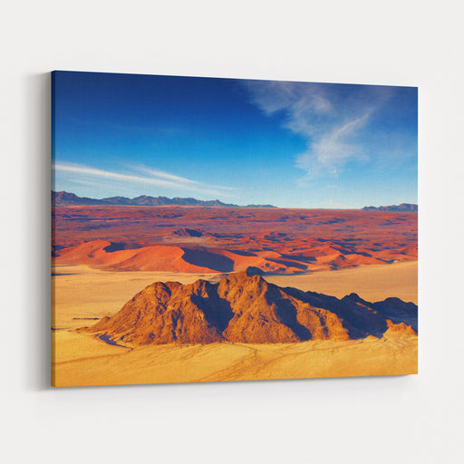 Namib Desert, Dunes Of Sossusvlei, Aerial View Canvas Wall Art Print