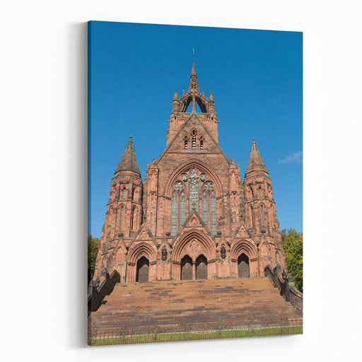 Thomas Coats Memorial Church In Paisley, Scotland Funded By A Textile Industrialist Generations Of Stonemasons Served Their Apprenticeships On Its Construction Canvas Wall Art Print