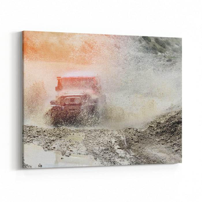 Off Road Canvas Wall Art Print