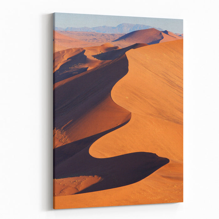 Aerial View Of The Namib Desert Canvas Wall Art Print