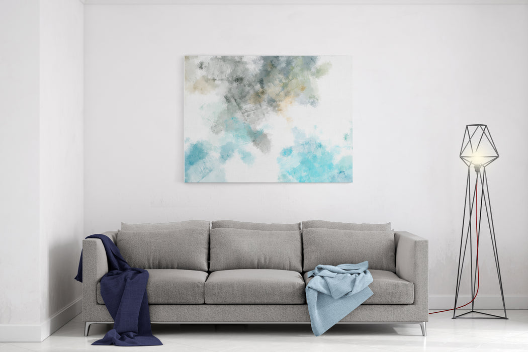 Brushed Painted Abstract Background Brush Stroked Painting Canvas Wall Art Print