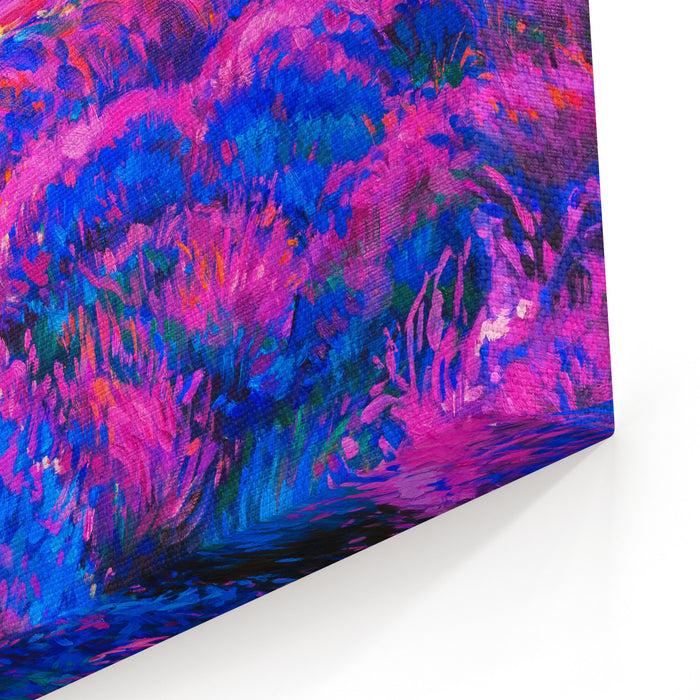 Oil Painting On Canvas Lavender Field Modern Art Canvas Wall Art Print