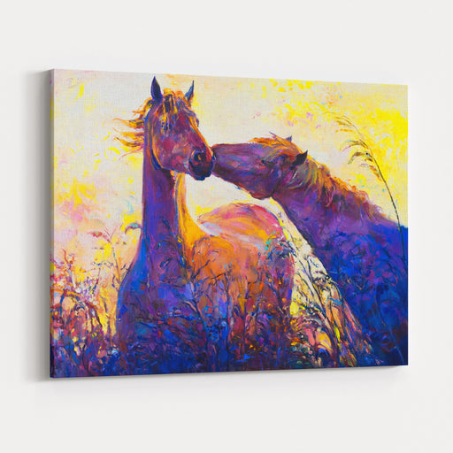 Oil Painting On Canvas Horses Modern Art Canvas Wall Art Print
