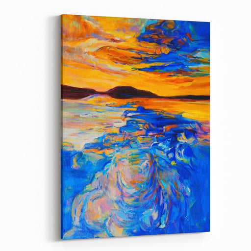 Oil Painting On Canvas Sky Reflection Modern Art Canvas Wall Art Print