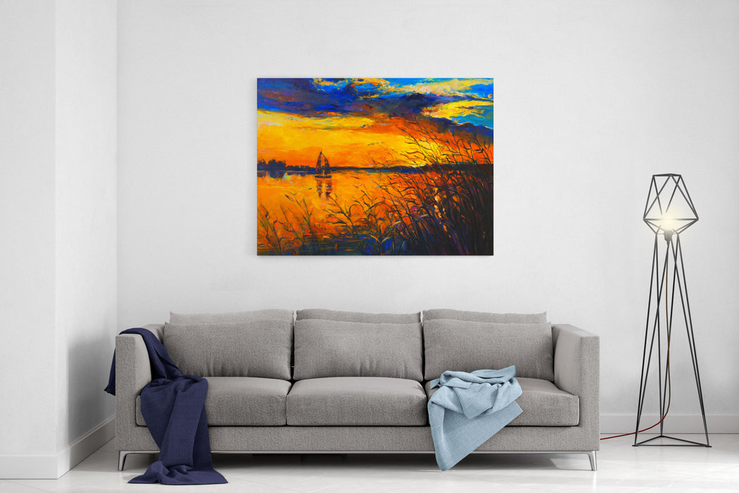 Oil Painting On Canvas Before The Night Modern Art Canvas Wall Art Print