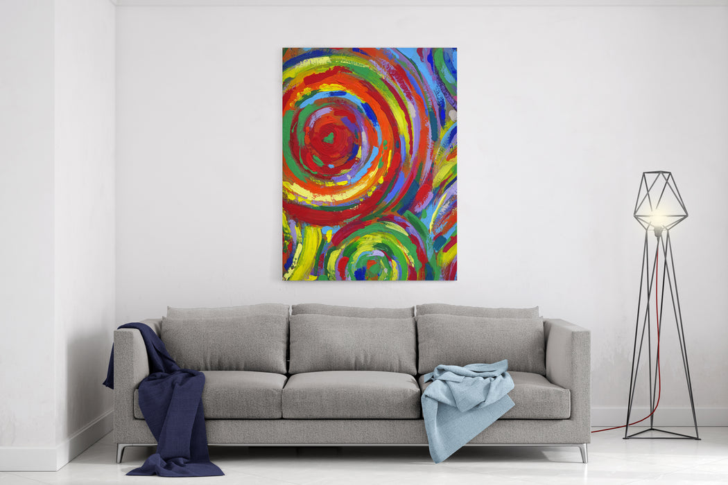 Acrylic Painting Abstract Texture Background Canvas Wall Art Print