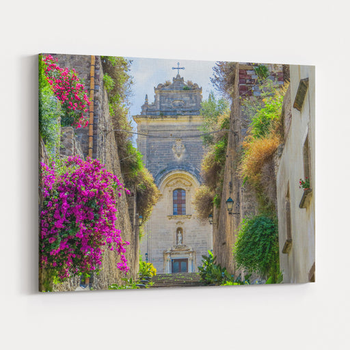 Cathedral Of San Bartolomeo In Lipari, Aeolian Islands, Italy Canvas Wall Art Print