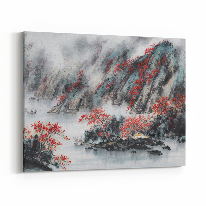 Landscape PaintingTraditional Chinese Painting Canvas Wall Art Print