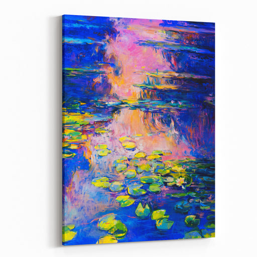 Oil Painting On Canvas Water Lilies Modern Art Canvas Wall Art Print