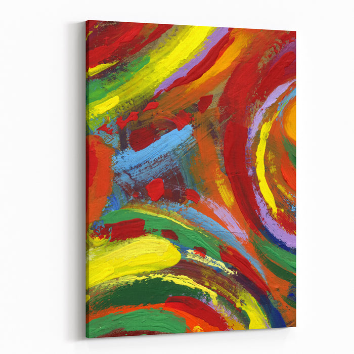 Abstract Painting Texture Background Canvas Wall Art Print