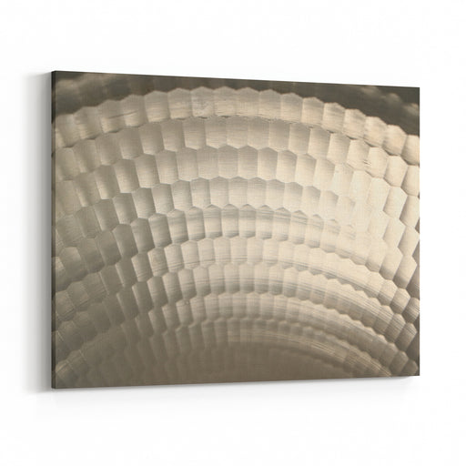 Honey Comb Rounded Stainless Steel Canvas Wall Art Print