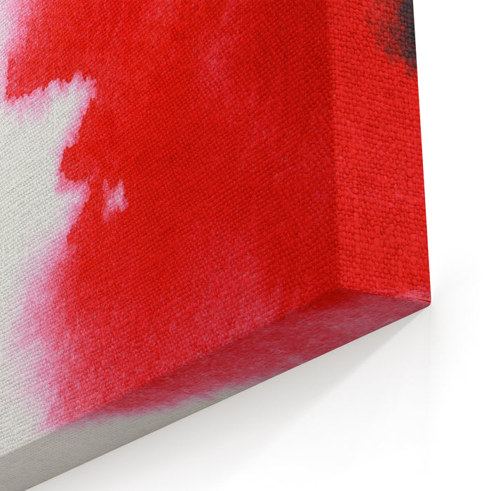 Abstract Red Watercolor Hand Painted Background Canvas Wall Art Print