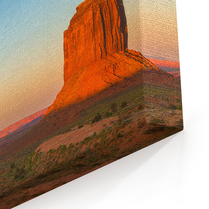 Monument Valley, A Redsand Desert Region On The ArizonaUtah Border, Is Known For The Towering Sandstone Buttes Of Monument Valley Navajo Tribal Park Canvas Wall Art Print