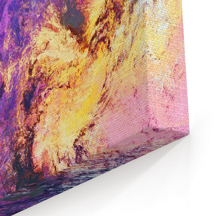 Lilac Clouds Bright Artistic Splashes Abstract Beautiful Purple Color Painting Texture Modern Futuristic Background  Fractal Artwork For Creative Graphic Design Canvas Wall Art Print