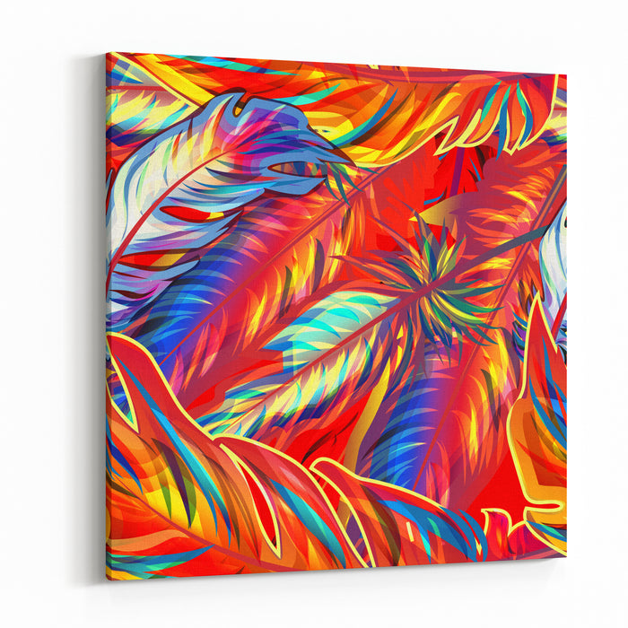 Exotic Feathers Canvas Wall Art Print