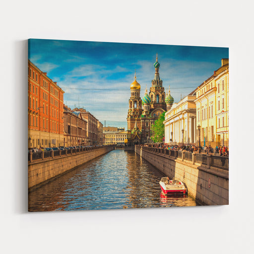 Church Of The Savior On Spilled Blood In Saint Petersburg, Russia Canvas Wall Art Print