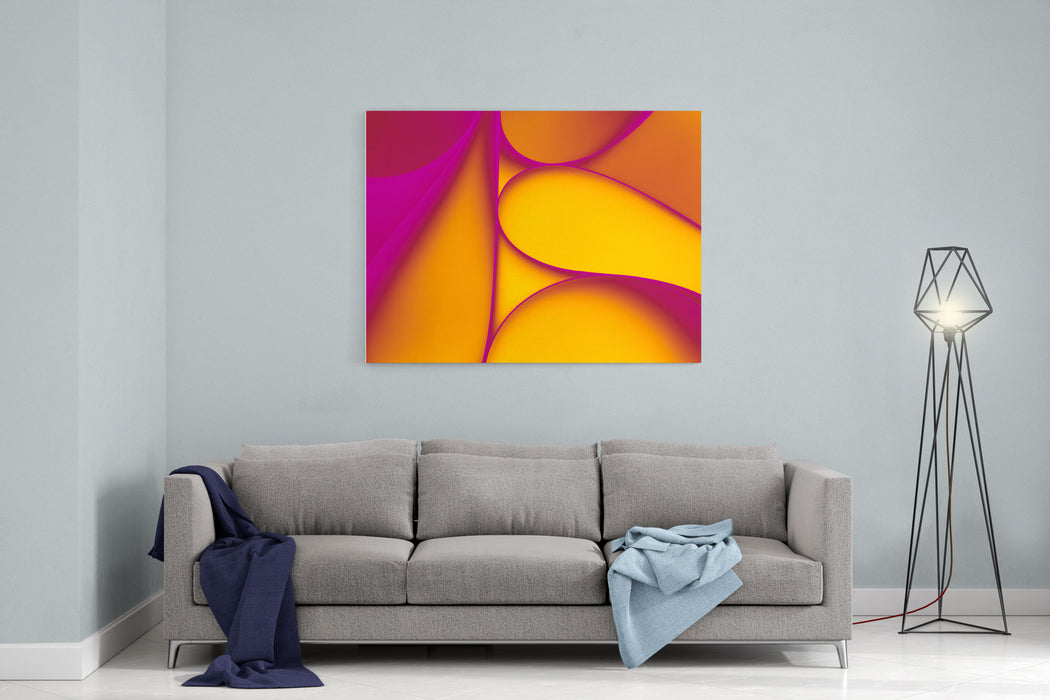 Abstract Paper Background Canvas Wall Art Print