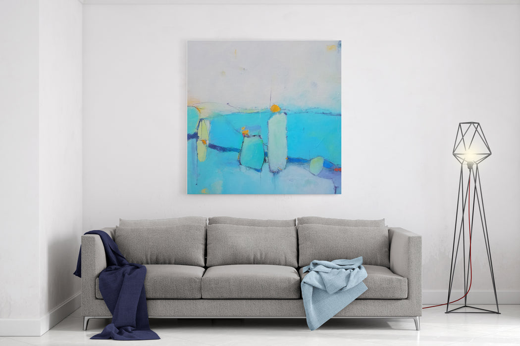 Textured Abstract Painting Hand Painted Colorful Background Canvas Wall Art Print