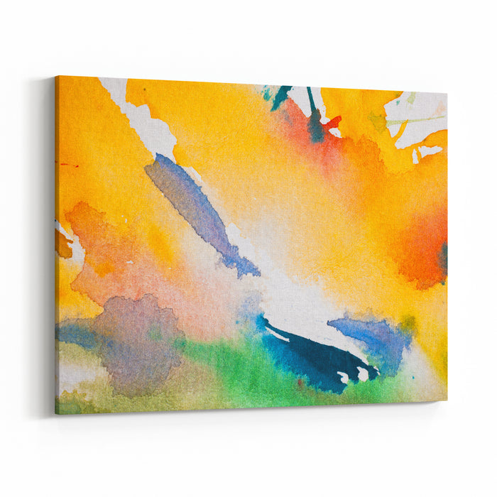 Abstract Water Color Canvas Wall Art Print