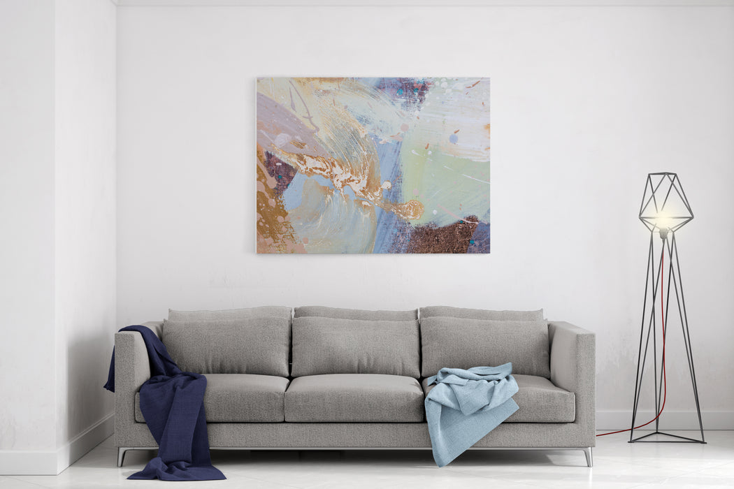 Abstract Painting Contemporary Art Colorful Canvas Watercolor Drips High Resolution Photo Canvas Wall Art Print