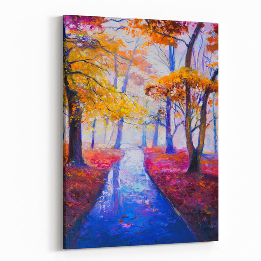 Original Oil Painting On Canvas Autumn Reflections Modern Art Canvas Wall Art Print