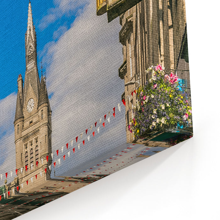 View Of Granite City Of Aberdeen In Scotland Uk Canvas Wall Art Print