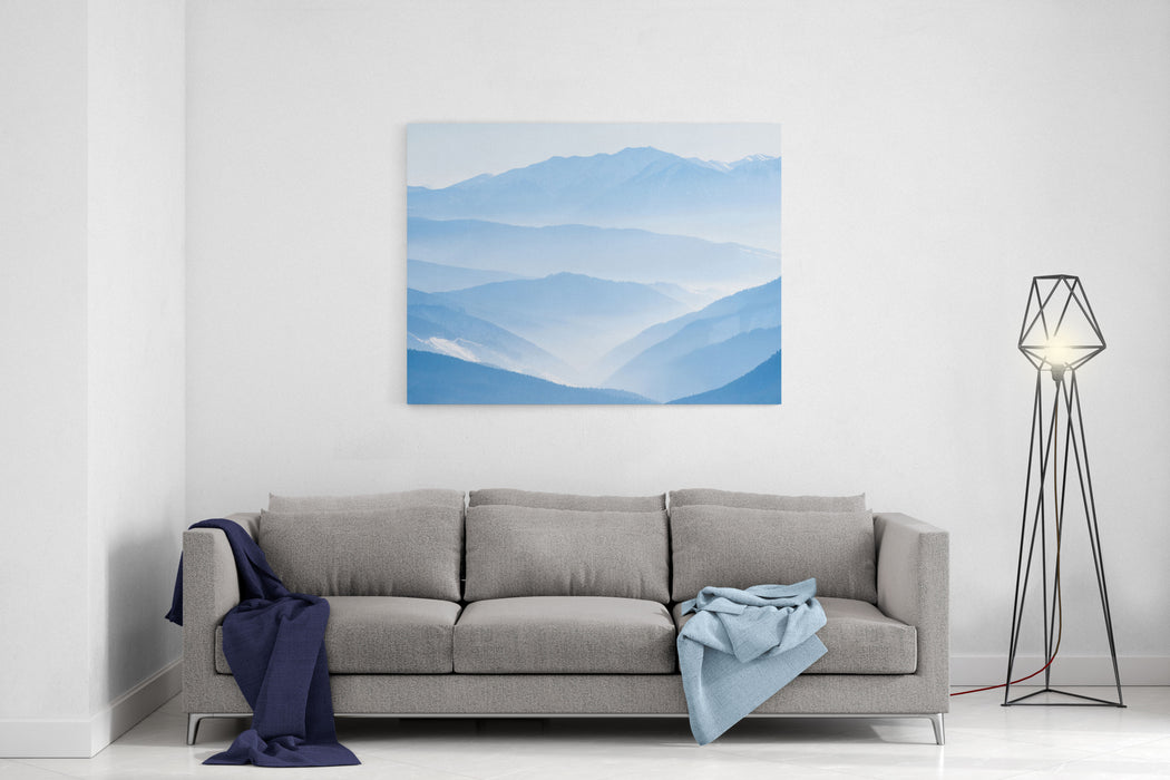 Landscape With Blue Mountains Canvas Wall Art Print