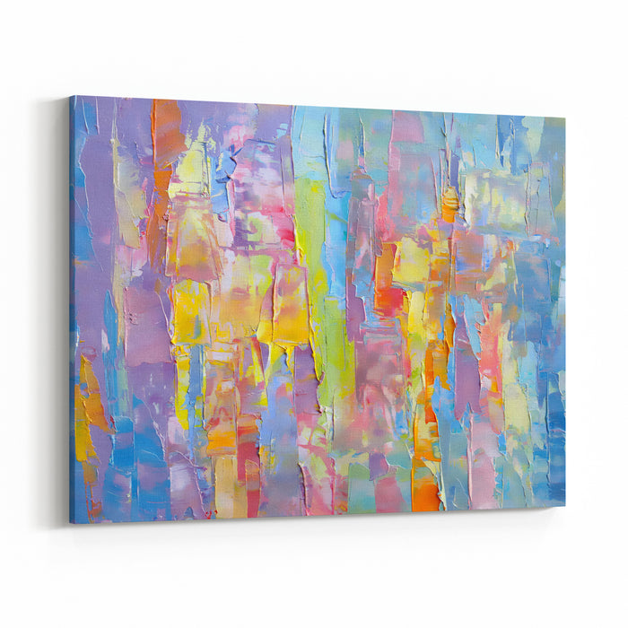 HighlyTextured Colorful Abstract Painting Background Natural Texture Of Oil Paint  Blur High DetailCan Be Used  For Web Design, Art Print, Textured Fonts, Figures, Shapes, Etc Canvas Wall Art Print
