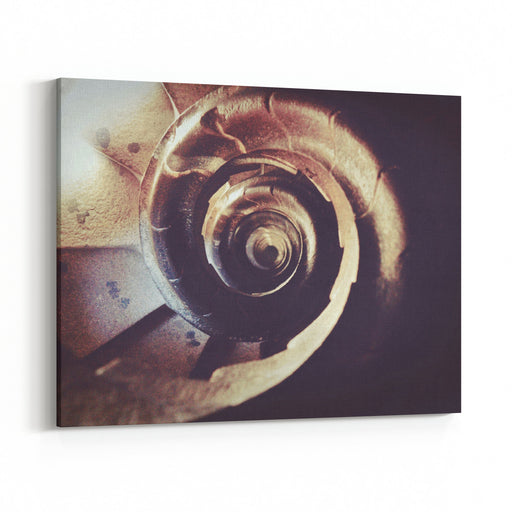 Spiral Of Stairways Canvas Wall Art Print