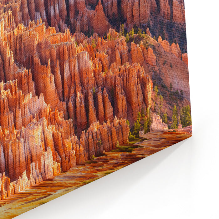 Amphitheater From Inspiration Point At Sunrise, Bryce Canyon National Park, Utah, USA Canvas Wall Art Print