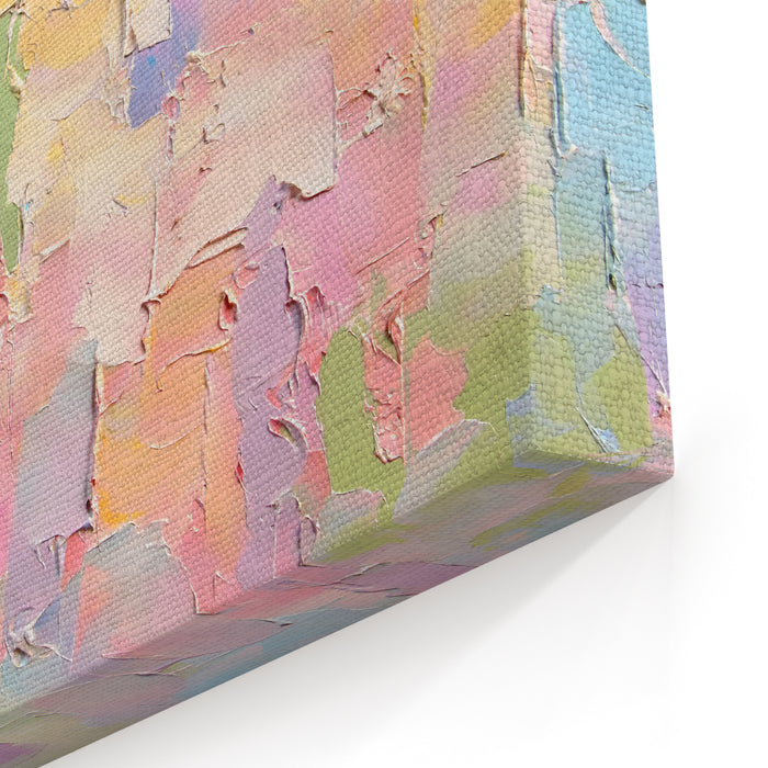 Colorful Abstract Painting Background Oil Paint Texture Palette Knife  Blur Can Be Used  For Web Design, Art Print, Textured Fonts, Figures, Shapes, Etc Canvas Wall Art Print