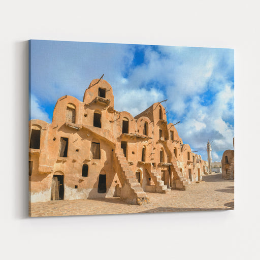 Ksar Ouled Soltane Near Tataouine In South Tunisia North Africa Canvas Wall Art Print
