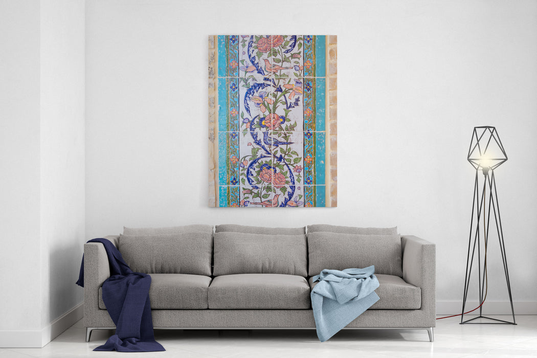 Details Of Tiles In Shiraz, Iran Canvas Wall Art Print