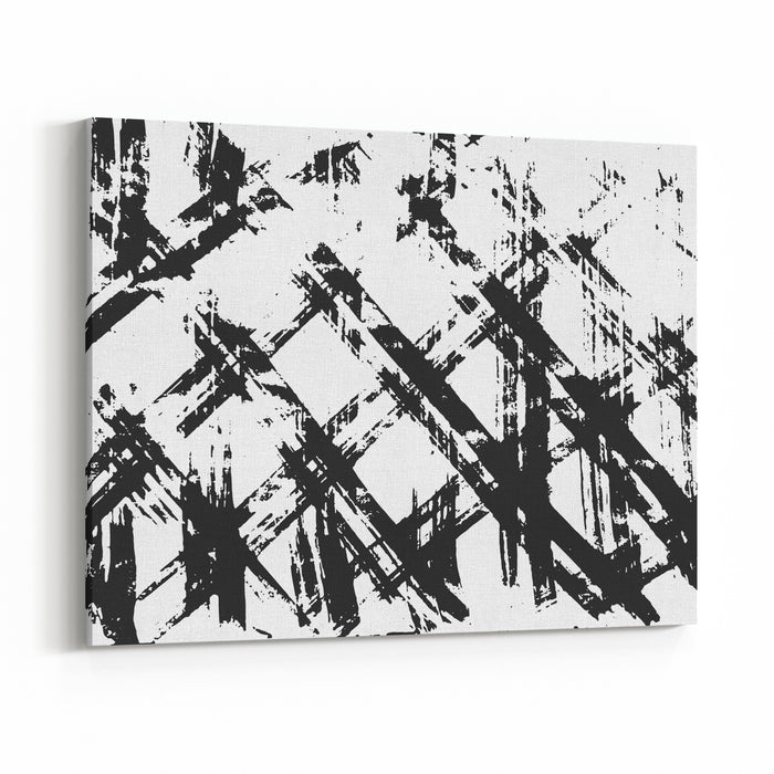 Brush Stroke Pattern Background Canvas Wall Art Print