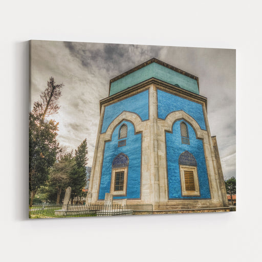 Green Tomb HDR View In Bursa City Canvas Wall Art Print