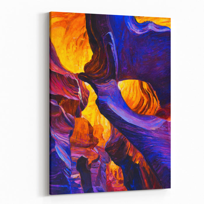 Original Oil Painting On Canvas Of Beautiful Canyonmodern Art Canvas Wall Art Print