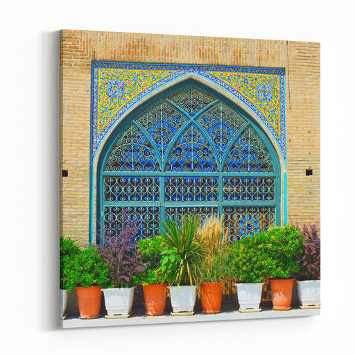 Wall At The Shah Mosque, Also Known As The Imam Khomeini Mosque Is A Mosque In The Grand Bazaar In Tehran, Iran Canvas Wall Art Print