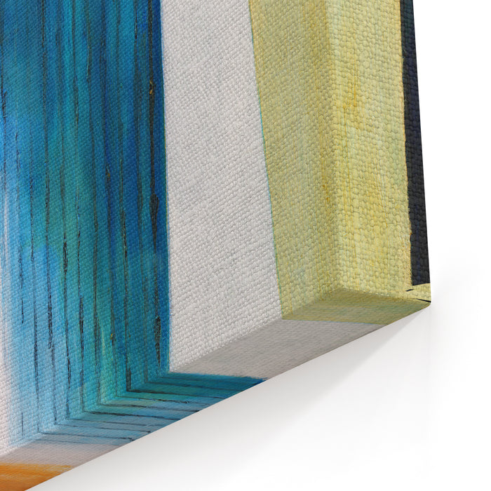 Abstract Painting  Slats Canvas Wall Art Print