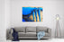 Abstract Modern Painting Of Three Human Figures Standing In An Abstract Landscape Canvas Wall Art Print