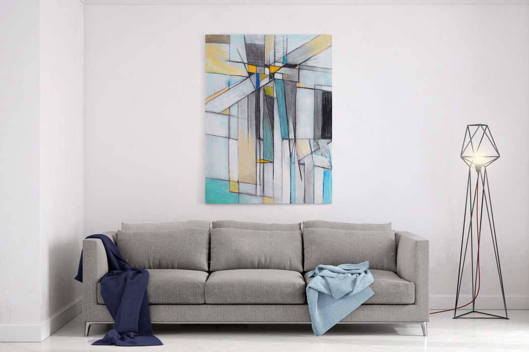 Charcoal And Pastel Study For An Abstract Painting Canvas Wall Art Print
