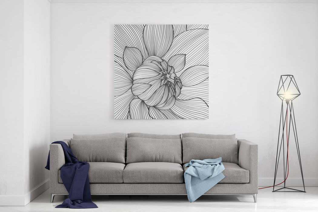 Abstract Floral Background Vector Flower Dahlia Element For Design Canvas Wall Art Print