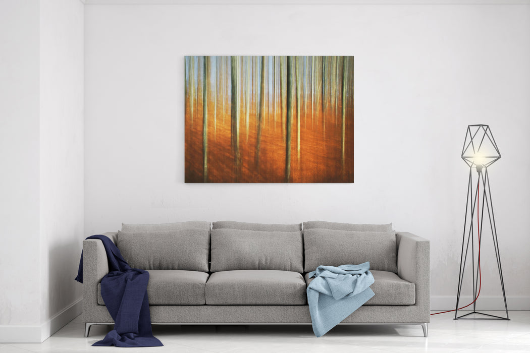 Abstract Autumn Forest Canvas Wall Art Print